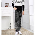 Hot Sale 2016 New Casual Skinny Men's Pants Plaid Slim Male Business Trousers free shipping
