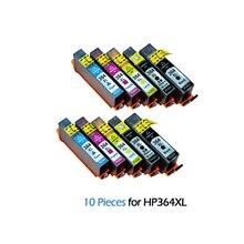 10pcs 364XL Ink Cartridge Replacement for HP Photosmart 364 XL Cartridges For Deskjet 3070A 5510 6510 B209a C510a C309a Printer for hp 15 78 ink cartridge for hp deskjet 845c 920c 810c 812c 816c 817c 825c 840c 3920 printer ink for hp15 c6615a c6578a