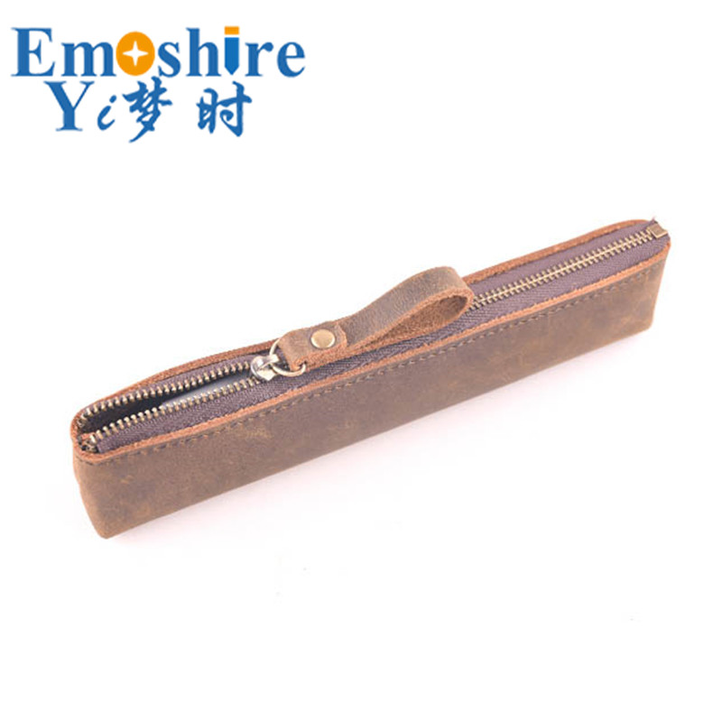 Handmade New Compact Stationery Pencil Case Pencils Box Ballpoint Pen Leather Retro Pencil Case Storage Box Bag B251|pencil case|stationery pencil cases|pencil box - title=
