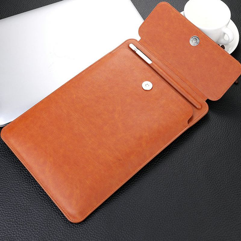 For IPad Pro 11 2018 Case 9.7 Air 2019 Leather Pouch Cover IPad Pro 10.5 Tablet Case Sleeve Pen Slot Bag For IPad Air 2 3 Case