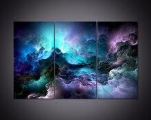 3 Панели HD с абстрактный облака отпечатки на холсте для украшения дома