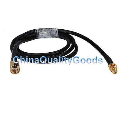 SMA male to SMA female adapter connector Pigtail KSR195 Coax cable 3M for WLAN rp sma female to y type 2x ip 9 ms156 male splitter combiner cable pigtail rg316 one sma point 2 ms156 connector for lte yota