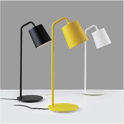 Nowoczesne  minimalistyczne metalowa lampa stołowa dla salon sypialnia badania biuro  żółty biały czarny kutego żelaza lampka nocna lampka do czytania Lampy na biurko    -