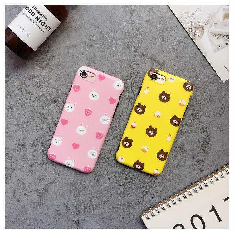 Korea Line Friends Brown Bear Duck Clear Matt Tpu Skinny Cover Case For Iphone6 6s