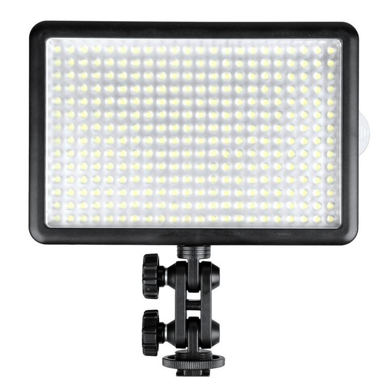 Godox LED308C Bi-Color 3300K-5600K LED Video Light Lamp for DV Camcorder Camera +Remote+Handle Grip godox led 308y 308 leds professional led video 3300k light with remote control for canon nikon camera dv camcorder