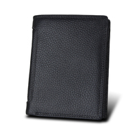 Brand RFID Wallet Antitheft Scanning Leather Wallet Hasp Leisure Men S Short Leather Wallet Case Credit