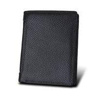 Brand RFID Wallet Antitheft Scanning Leather Wallet Hasp Leisure Men S Short Leather Wallet Case Credit