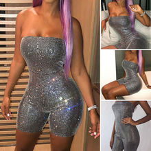 New Women Casual Summer Playsuit Bodycon Party Romper Short Jumpsuit Lady Loose Overall Clubwear 2019