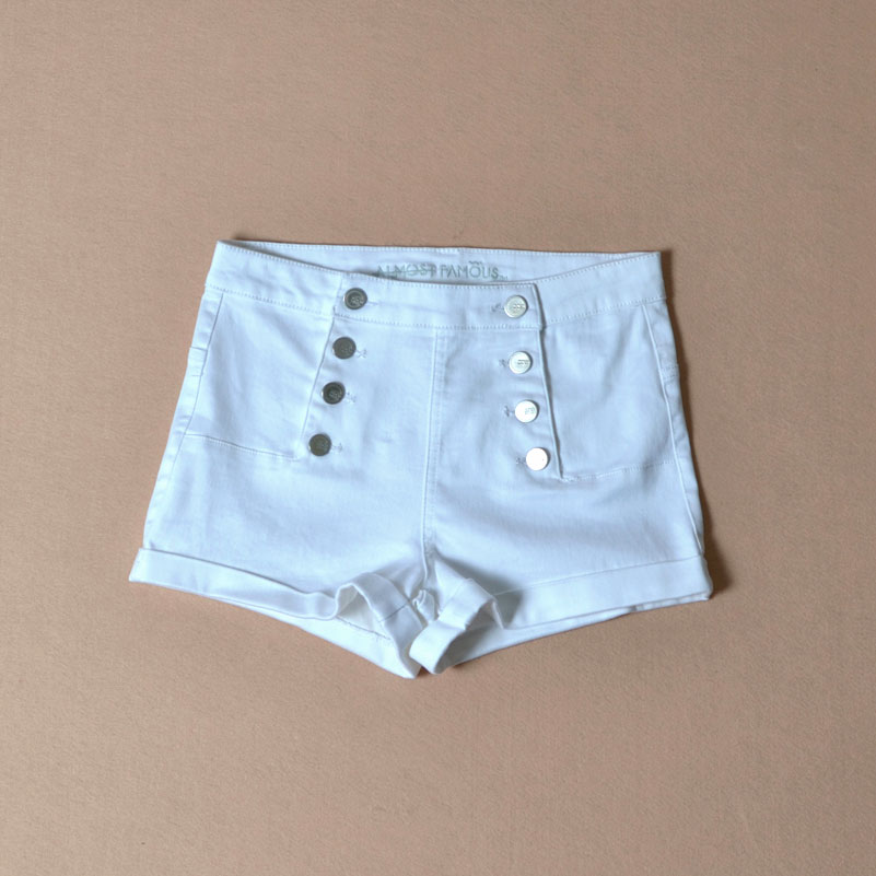 CK330 Summer Skinny Low Waisted Sailor Shorts Women Good Stretch Denim Sexy Short Jeans For Women Print Slim Lady Fashion Wear