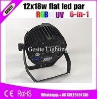 4pcs/lot wall light fixtures uv led 12x18w led par indoor spotlight dmx ip20 PAR
