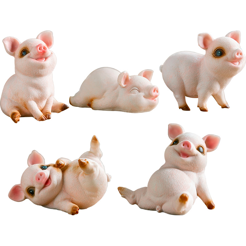 Creative pig ornaments living room home desktop decorations garden cute animal doll birthday gift this year