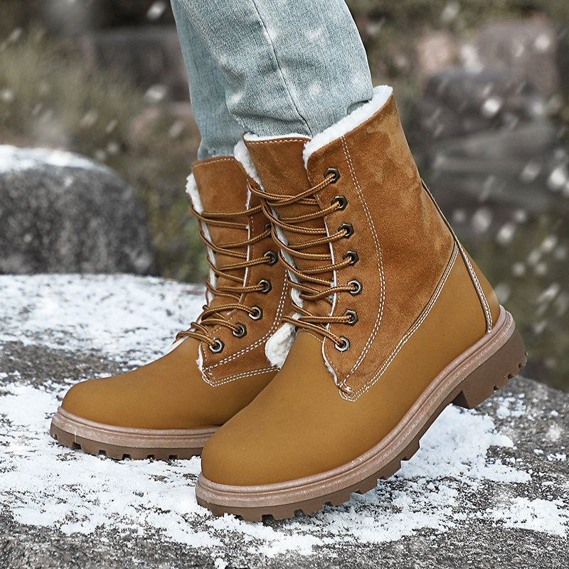 Image 5 - VESONAL 2019 Winter Suede Leather Warm Snow Shoes Women Boots mid calf Plush Fur Velvet Boots Female Booties Woman Footwear-in Mid-Calf Boots from Shoes