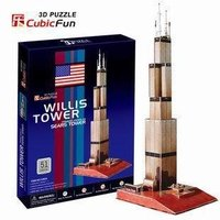 Candice Guo 3D Puzzle Toy CubicFun 3D Paper Model Jigsaw Game US Willis Tower Sears Tower