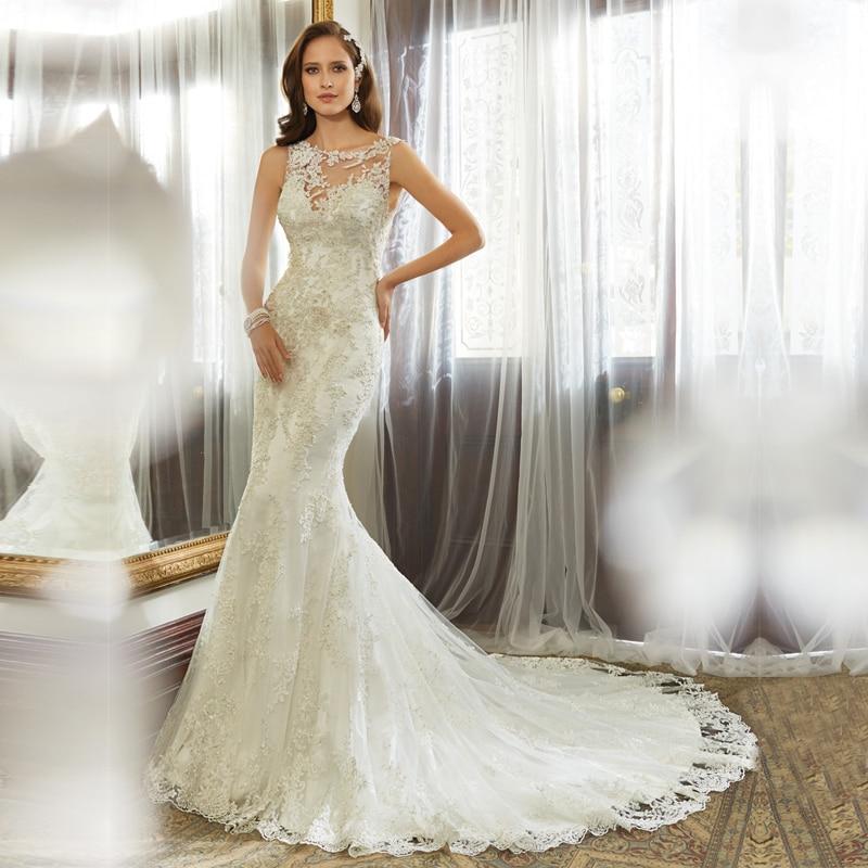 KSD234 Vestido De Noiva Trumpet Wedding Gowns Alibaba Open Back Sexy Brides Dress China Elegant Lace Mermaid 2017 In Dresses From