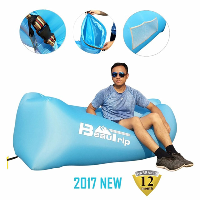 Inflatable Sleeping Bag Lounger Air Sofa Anti-air Leaking Design For Indoor Or Outdoor Use Inflatable Lounge For Camping Picnics Sleeping Bags Camp Sleeping Gear