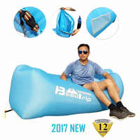 BEAUTRIP Brand Inflatable Lounger Hammock Air Sofa Beach Airbed Lazy Sleeping Lounge Lay Bag Bed Airbag for Outdoor Camping Camp