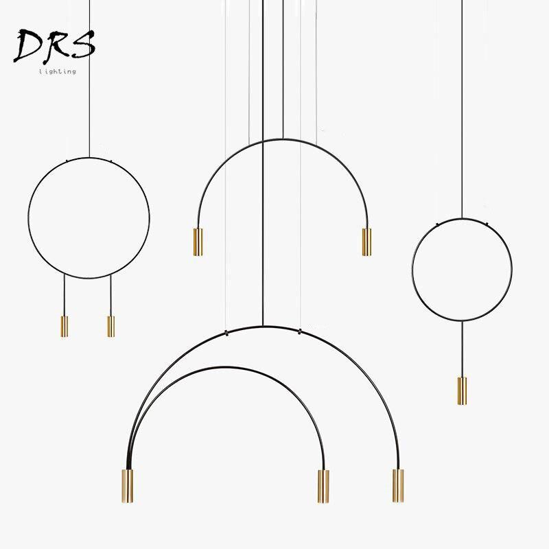 Linha Geométrica nórdico Tom Designer de Lâmpada de Suspensão para Sala de estar Pendente Luz Pingente Lustre Iluminação Moderna Levou Luminárias