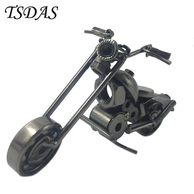 Schwarz Metall Motorradmodell Eisen Motorrad Modelle Metall Handwerk