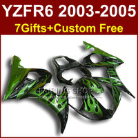 FR green flame bodywork for YAMAHA R6 fairing kit 03 04 05 fairings YZF R6 2003 2004 2005 Motorcycle sets H6Y