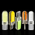NEW T10 194 2825 WY5W W5W COB LED Silica gel Waterproof Wedge Light Car marker light reading dome Lamp Auto parking bulbs 12V