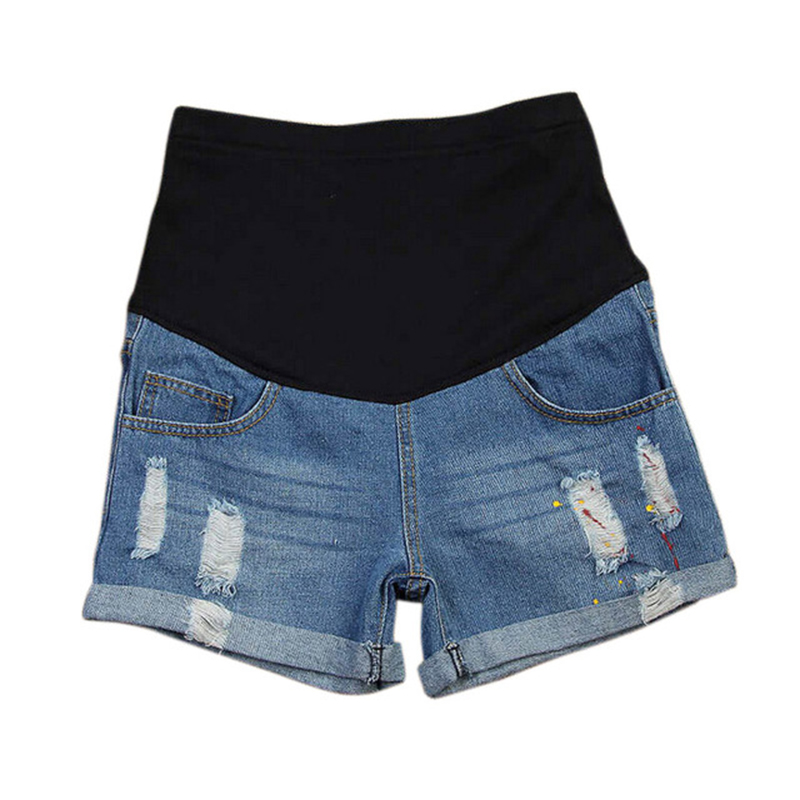 c56ba5feb7e78 Plus Size Maternity Clothing Summer Maternity Pants Fashion Maternity  Shorts Belly Pants Basic Maternity Jeans Pregnant Women-in Shorts from  Mother   Kids ...