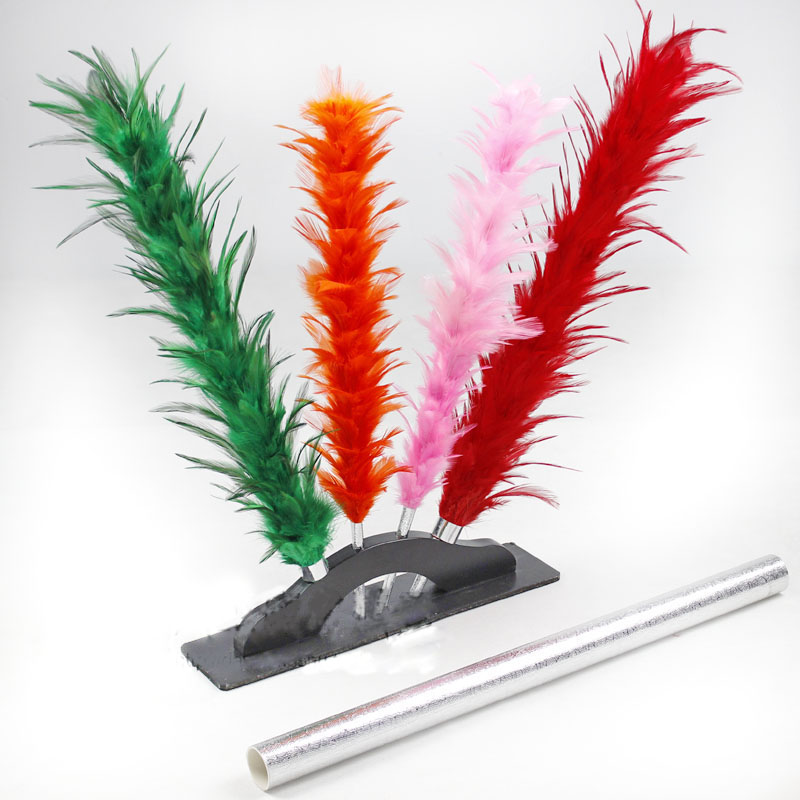 Changement de couleur plumeau baguette apparaissant changement de couleur fleur tours de magie drôle scène Magia Illusion Gimmick accessoires magiciens