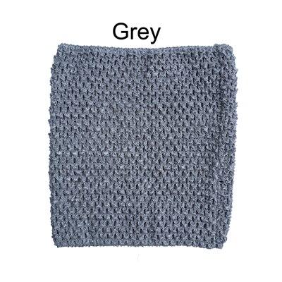 Вязанная крючком юбка-пачка для маленьких девочек, 9 дюймов, топы-трубы, обхват груди, широкая вязаная крючком, топы, юбка-пачка «сделай сам», платье, поставщик - Цвет: Grey Tutu top