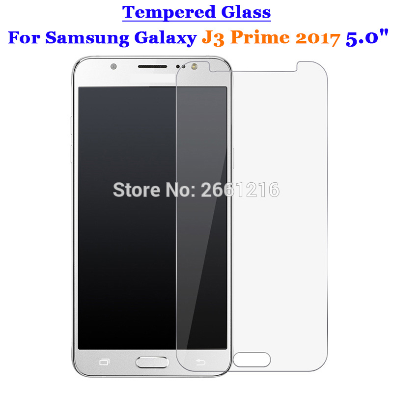 Samsung Galaxy J3 Prime 2017 Premium Real Tempered Glass Screen Protector Film Cases, Covers & Skins