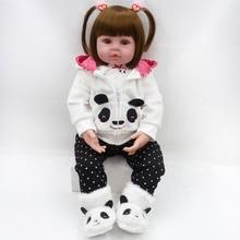 Bebes Кукла реборн 47 см куклы для маленьких девочек Мягкие силиконовые Boneca reborn Brinquedos Bonecas подарки на день детей игрушки на кровать