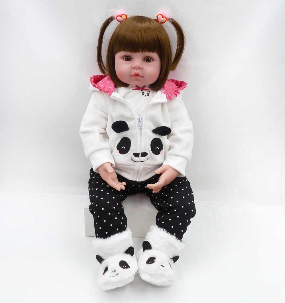 Bebé reborn muñeca 47cm Baby girl muñecas suave silicona Boneca Reborn Brinquedos Bonecas regalos del Día del Niño juguetes cama tiempo plamate