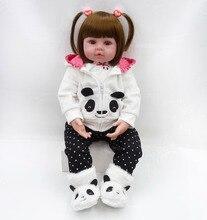 Bebes Rebornตุ๊กตา 47 ซม.เด็กทารกตุ๊กตานุ่มซิลิโคนBoneca Reborn Brinquedos Bonecasเด็กวันของขวัญของเล่นเตียงเวลาplamate