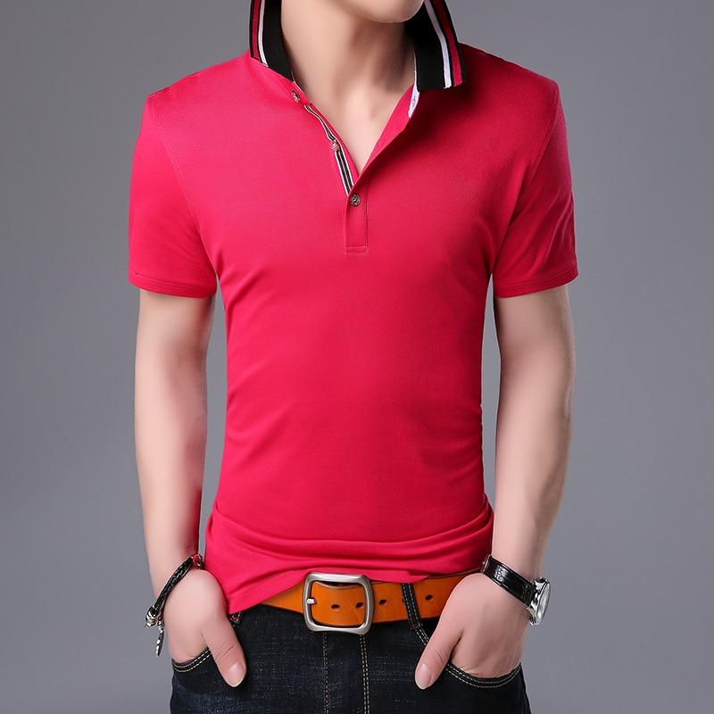 2019 New Fashion Brands Summer   Polo   Shirt Mens British Style Short Sleeve Slim Fit Top Grade Poloshirt Casual Men's Clothing