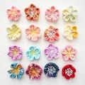 Colorful Japanese Handmade Flower Hair Clip, for Seven Five Three Graduation Wedding Adult Ceremony Kimono Yukata