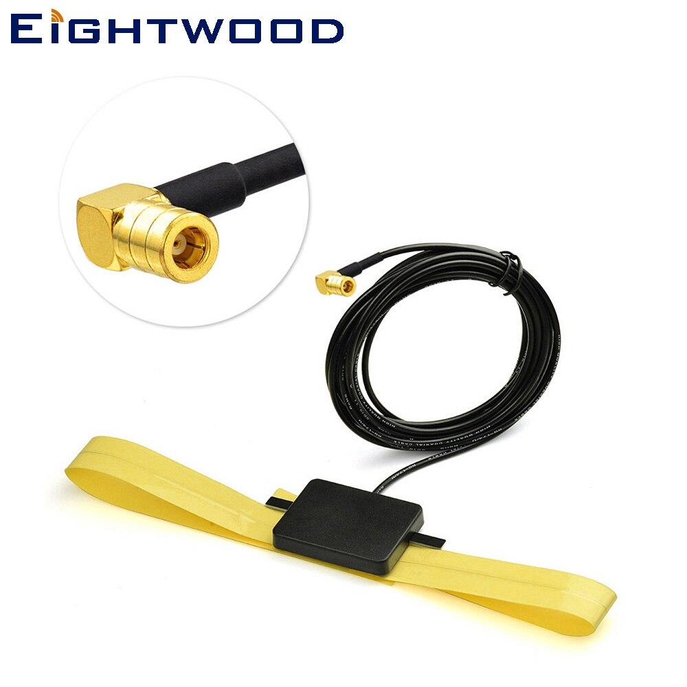 Eightwood Universel DAB/DAB + Antenne De Voiture Radios Antenne Verre Montage SMB Connecteur pour JVC Pionnier Sony Alpine Ezi -DAB