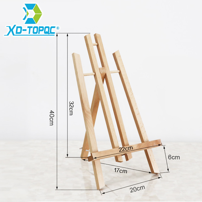XINDI Pine Wood Easel 3 Sizes Tabletop Drawing Artist Wooden Fold Standing Easels Painting Whiteboard Chalk board Easels WE05 3