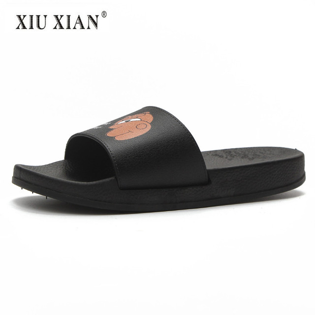 c353506765e9 2018 Summer New Lovely Cartoon Women Slippers Fashion Thick Sole Comfort  Outside Slipper Waterproof Home Floor Casual Flat Shoes