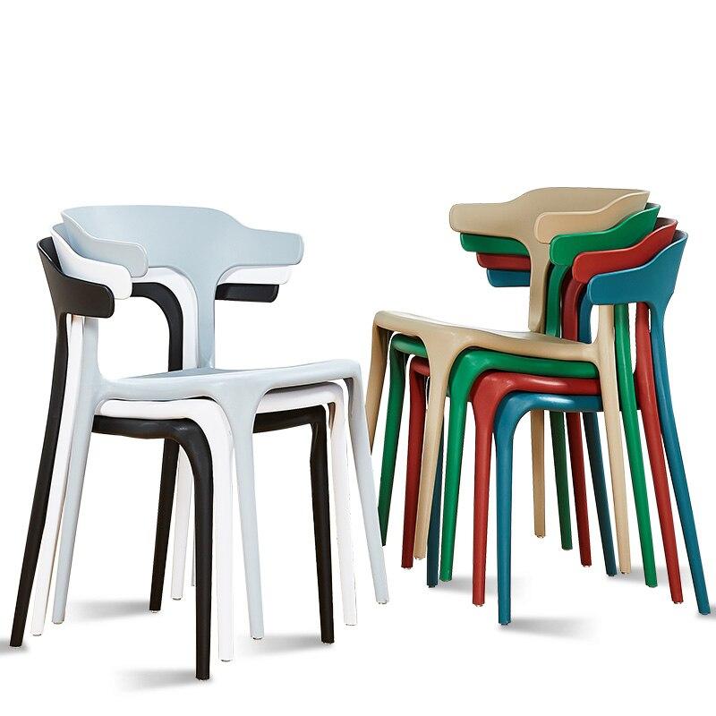 Moderne Minimalistische Plastic Stoel Nordic Eetkamerstoel Thuis Creatieve Eetkamerstoelen Cafe Leisure Hoorn Stoel Een Grote Verscheidenheid Aan Goederen