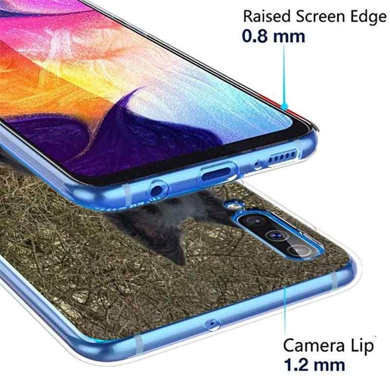 Anjing Gembala Jerman Silicone Casing untuk Samsung Galaxy A71 A51 A90 5G A10 A30 A40 A50 A70 A6 A7 a8 + A9 M30 M40 Lembut Ponsel