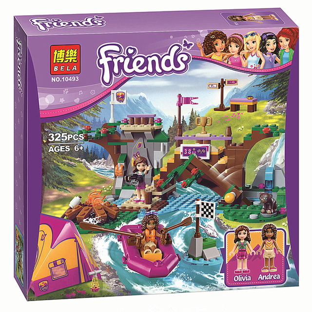 BELA Amigos 10493 Campamento de Aventura de Rafting Building Blocks Set Modelo Compatible Legoelieds Amigos Para Niñas Lepin