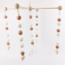 Felt Ball Baby toys Baby Mobile Shower Gifts(1 Set)Wool Pomo