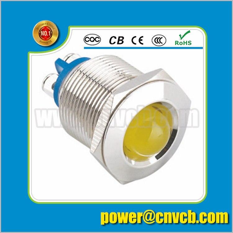 IN91 19mm domed head IP67 wiring terminal indicator light waterproof pilot lamp