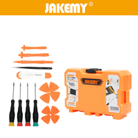 JAKEMY 18Pcs Repair Tools Kit Roller Opening Pry Spudger Tools Screwdriver Set For Cellphone IPad Tablet