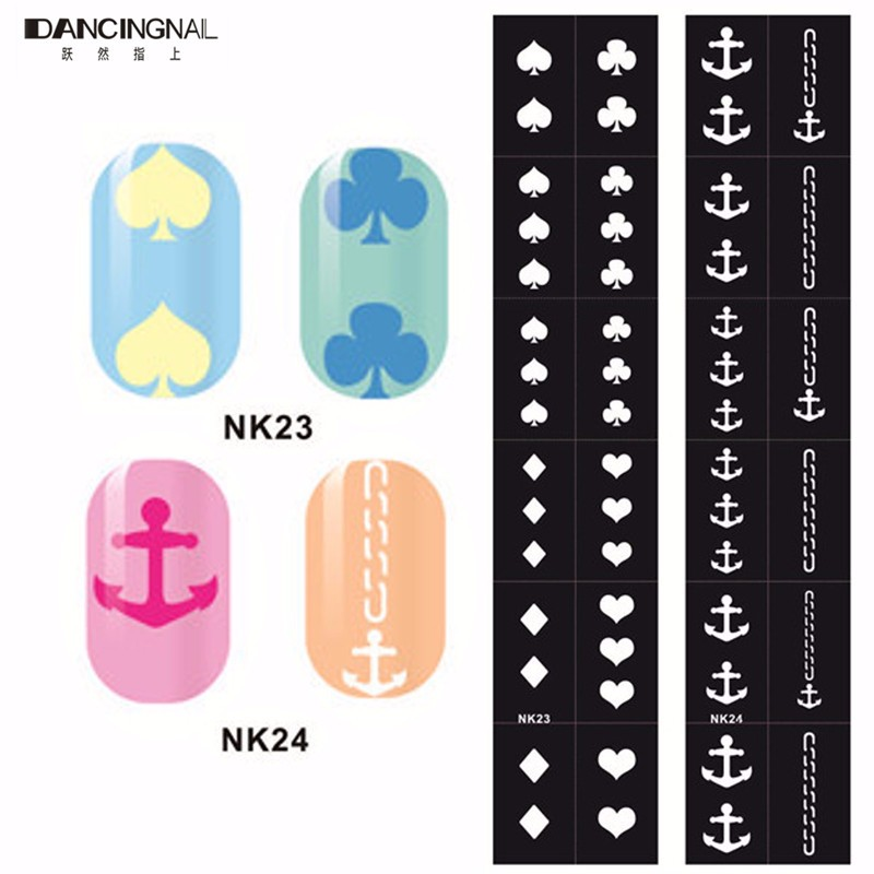 photograph regarding Free Printable Nail Art Stencils named US $3.19 1Sheet Nail Artwork Stencils 3D Layouts Vinyl Flower Diecut Stickers Stamping Layouts Manicure Do-it-yourself Device Decoration-inside Stickers Decals against
