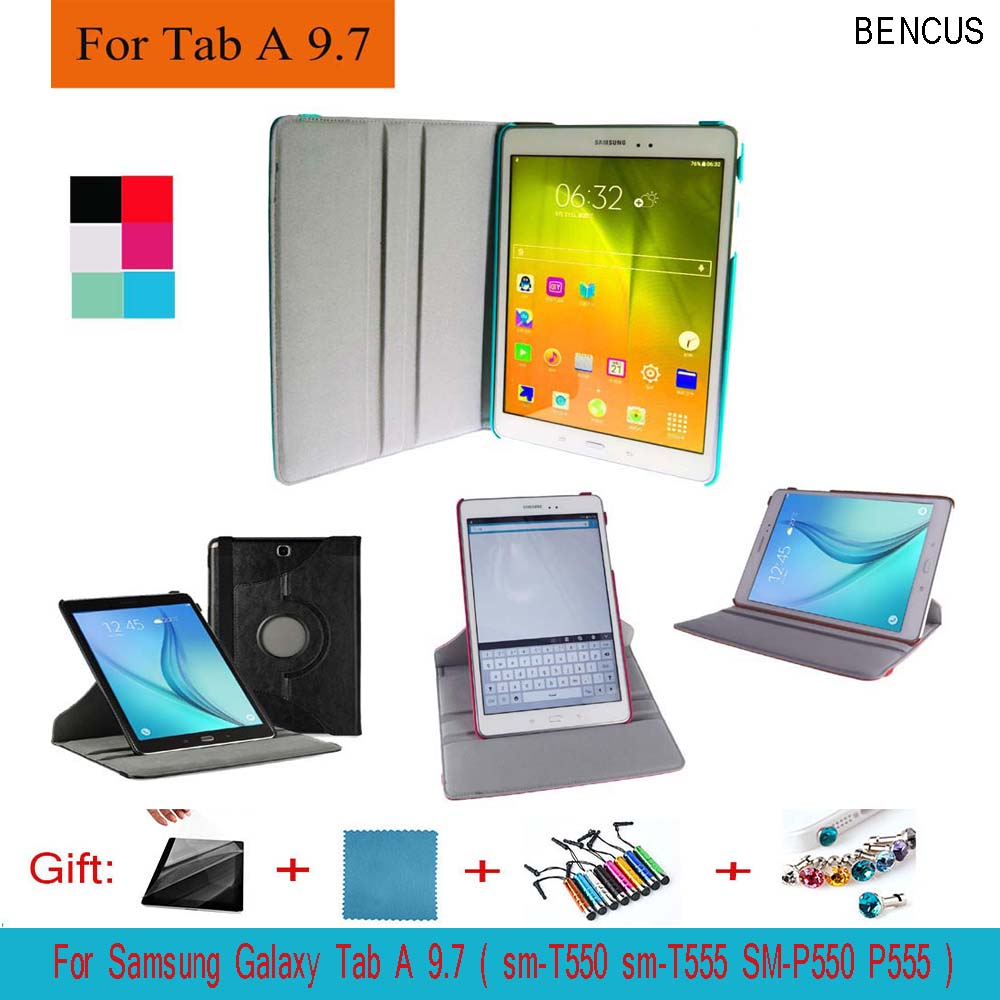 BENCUS For Samsung Galaxy Tab A 9.7 T550 T555 PU Leather 360 Rotating Stand Case Cover for Galaxy Tab A 9.7 Tablet