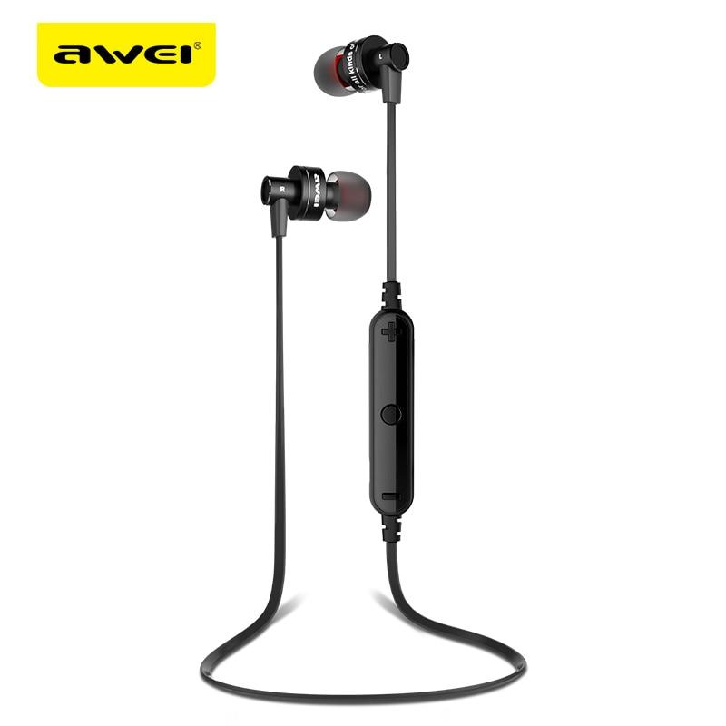 Awei A990BL Sport Drahtloser Bluetooth Kopfhörer Stereo Kopfhörer Mit Mikrofon Sweatproof Kopfhörer Für Telefon Bluetooth Earbuds