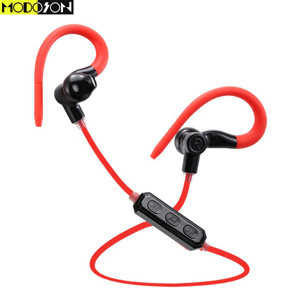 MODOSON Voice Control M1 Bluetooth Earphone Wireless Running Headset Stereo Earbud Headphones