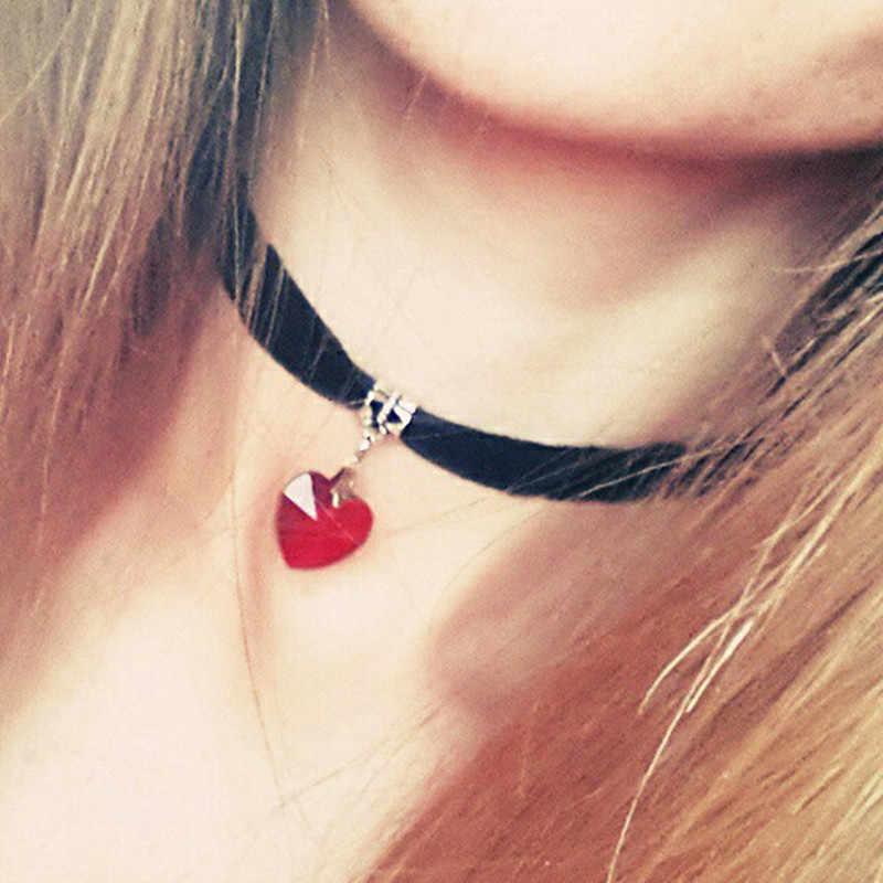 N2015 Готический Терилен колье ожерелье любовь сердце кристалл кулон Сейлор Мун женщина девушка ювелирные изделия модное ожерелье s одно направление