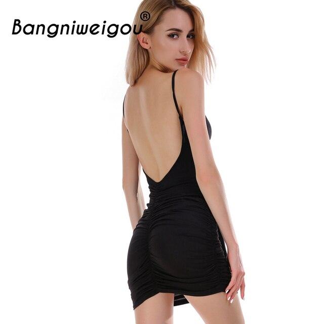 8ec89225f153 Bangniweigou Cutout Low Back Knot Front Slip Dress Women Summer 2018