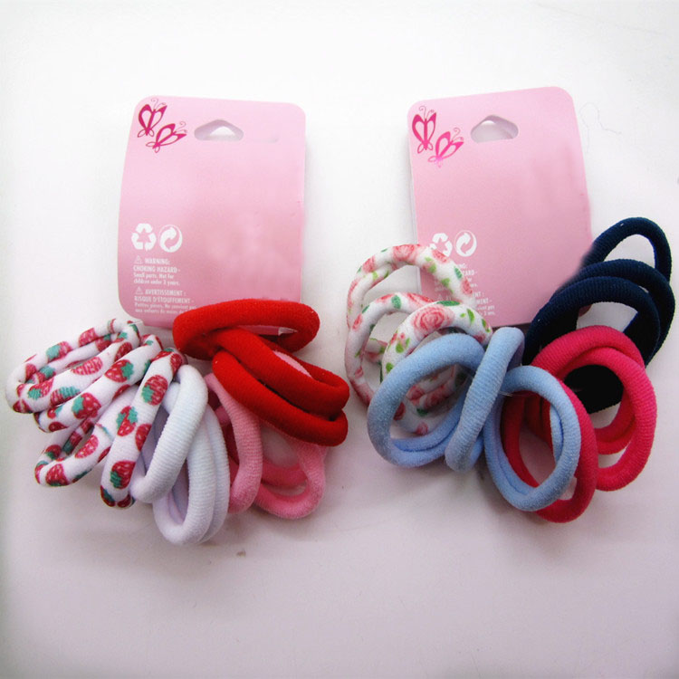 Hot Sale 12Pcs/lot Girls print and solid color Elastic Hair Bands hair Rope Ponytail Holder For Women headwear hair accessories 50pcs korean candy color headwear hair ring ropes ponytail holder disposable elastic hair bands for girls hair accessories