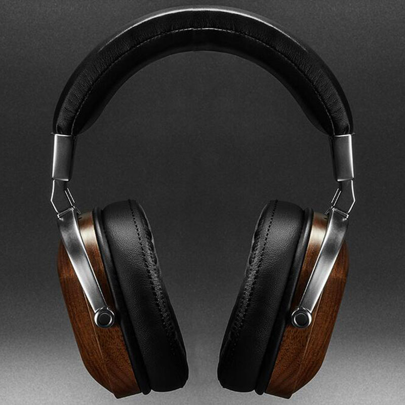 100% Original Blon B8 Wooden Metal Headphone Black Mahogany Headset Earphone With Beryllium Alloy Driver And protein Leather